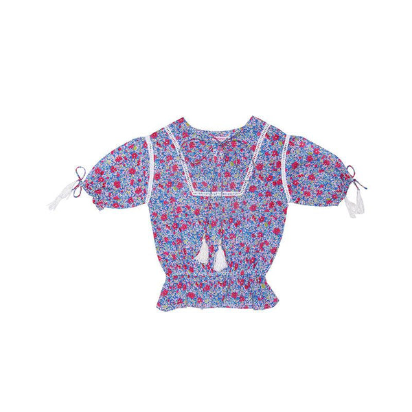 Coco & Ginger Isadora Blouse - Azure Meadow