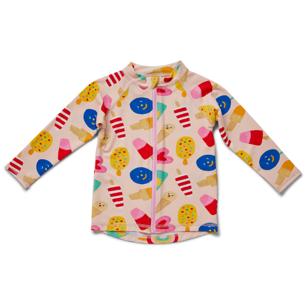 Halcyon Nights Kids LS Zip Rash Vest - Sweet Dreams