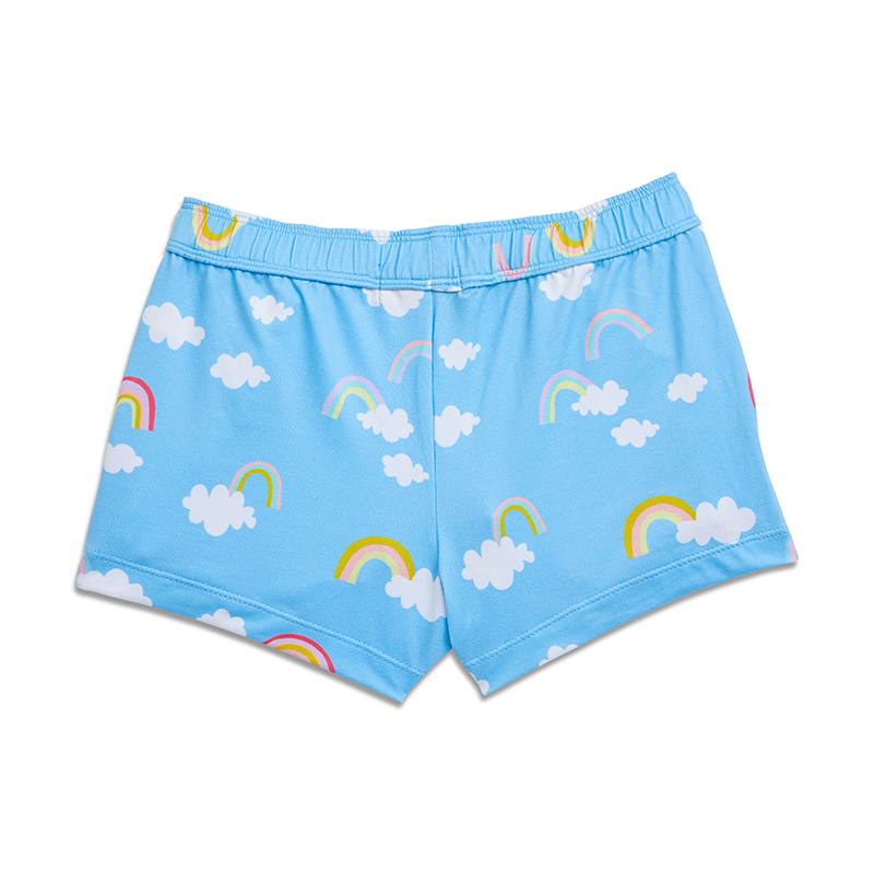 Yellow Jungle Sunset Shorts - Magic Rainbow