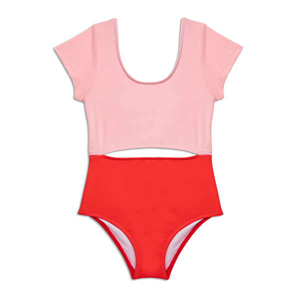 Yellow Jungle Sydney Swimsuit - Pink/Coral