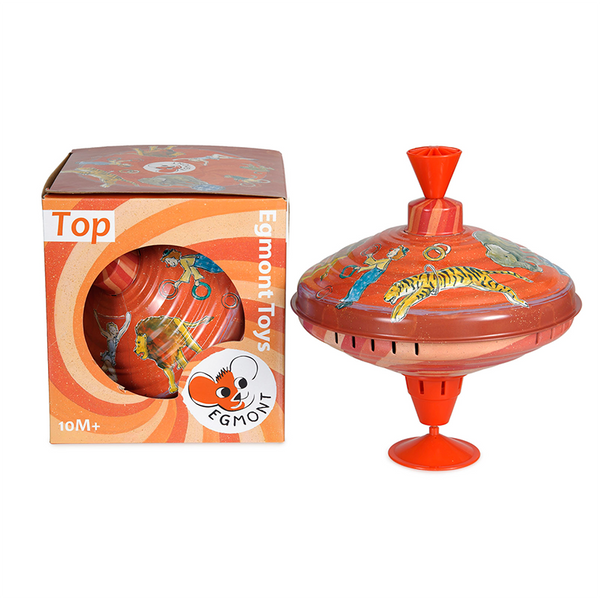 Egmont Large Spinning Top - Circus