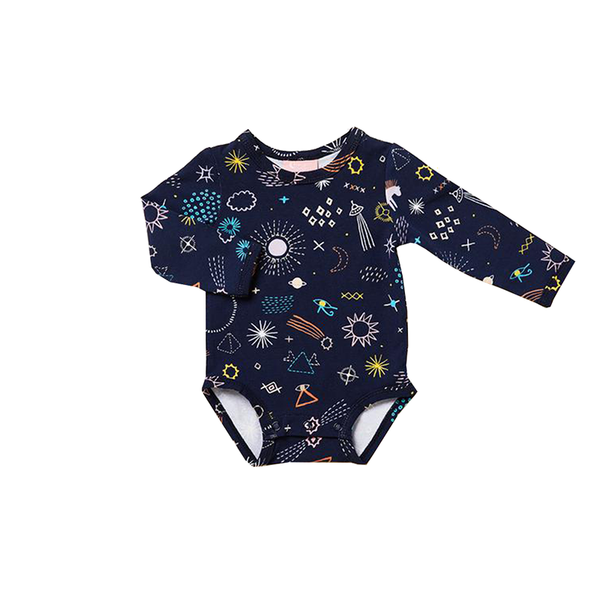 Halcyon Nights L/S Body Suit - Milky Way