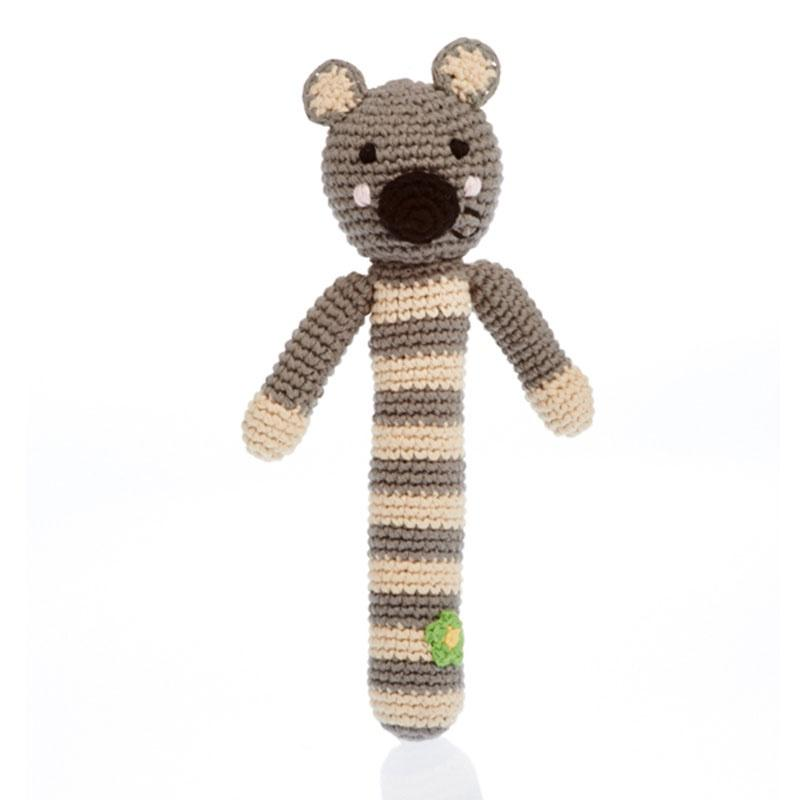 Pebble Stick Rattle - Koala