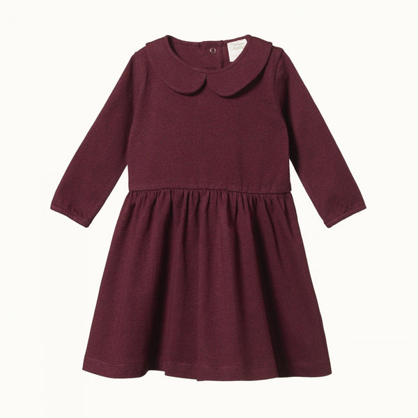 Nature Baby Edith Dress - Mulberry Small Speckle