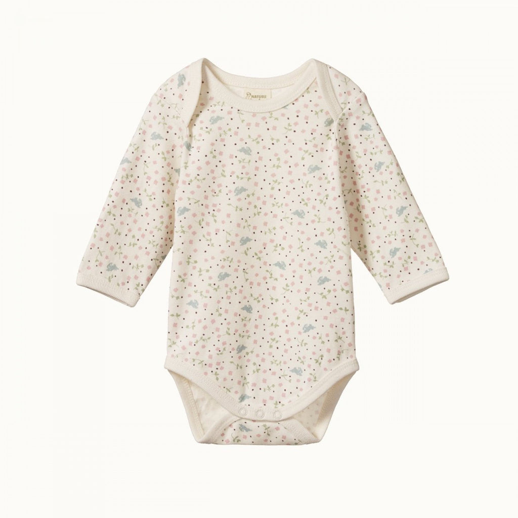 Nature Baby Long Sleeve Bodysuit - Sweet Pea
