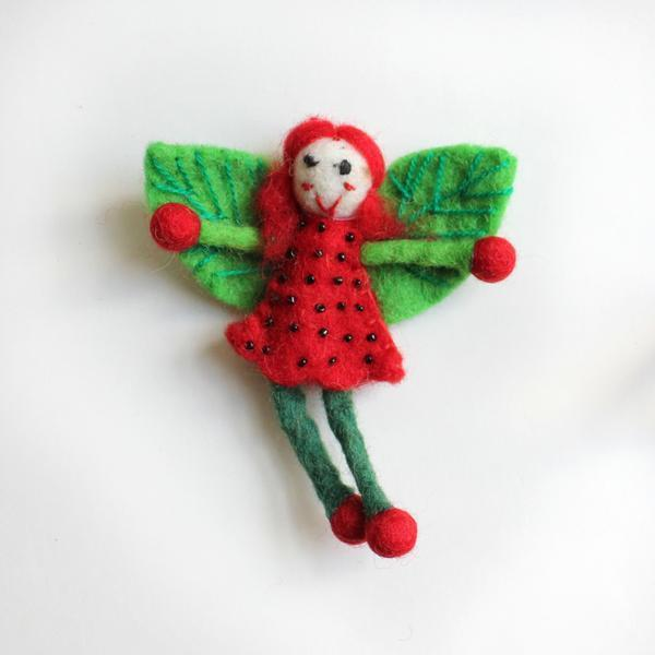 Felt Strawberry Fairy Small