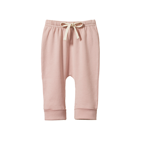 Nature Baby Drawstring Pants - Rose Bud