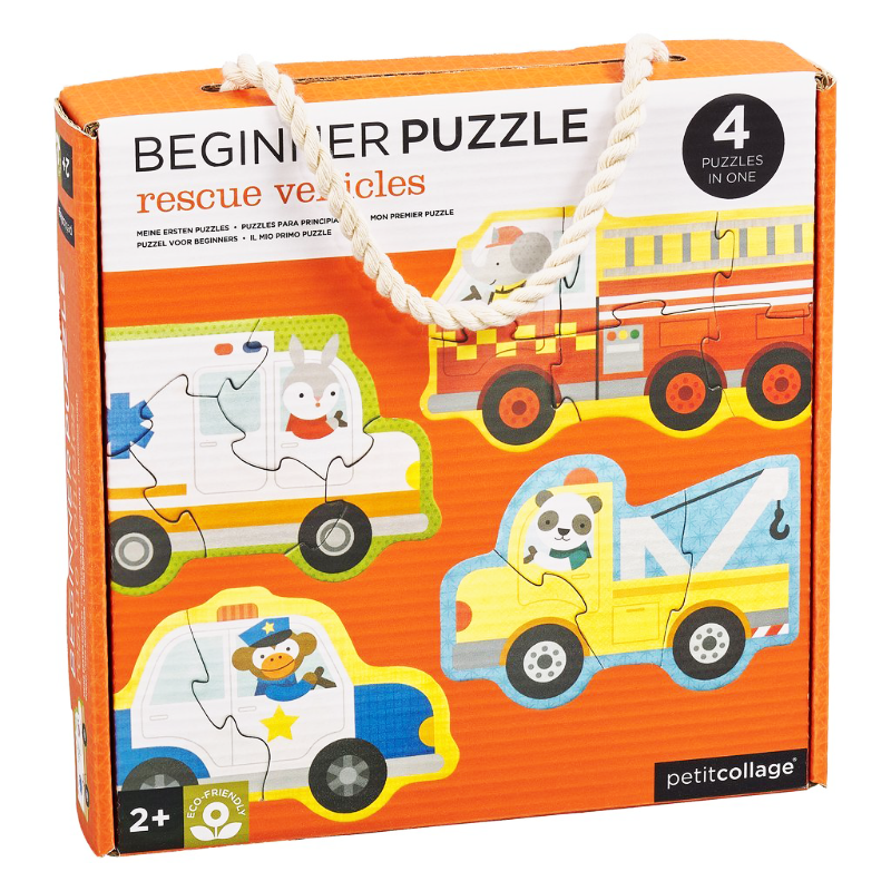 Petit Collage Beginner Puzzle - Rescue Vehicles