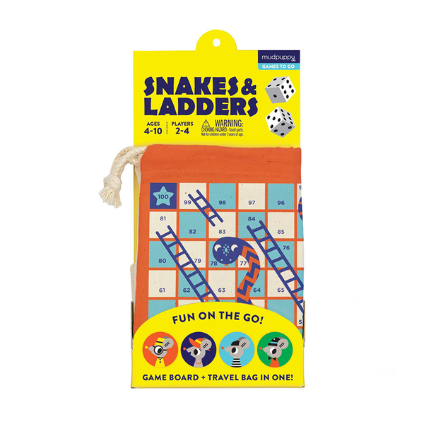 Mudpuppy Travel Game Snakes & Ladders