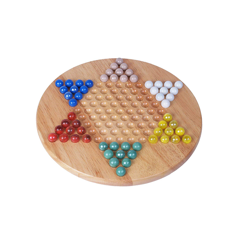 Chinese Checkers Wood W/Marbles