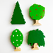 Set Of 4 Trees