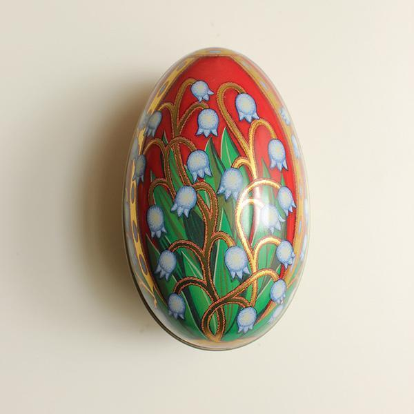 Easter Egg Shaped Tin - Russian Red