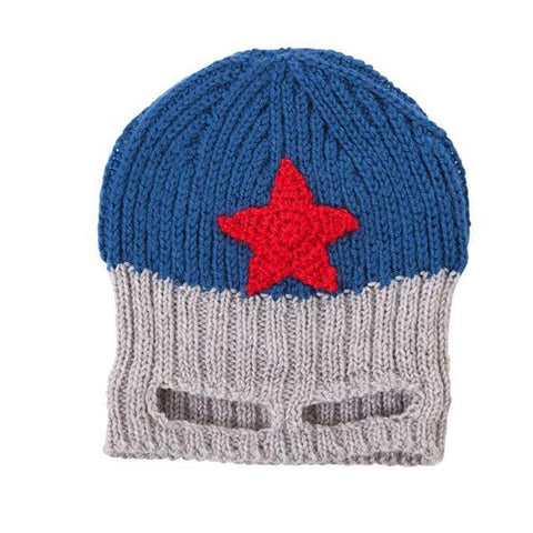 Acorn Captain America Beanie - Blue/ grey/red