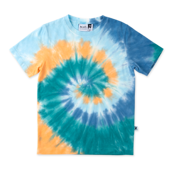Minti Swirly Tee - Blues/Teal/Orange