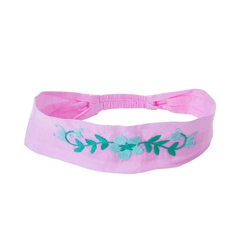 Headband - Rose Embroidery