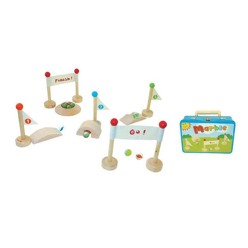 Marble Playset in Tin Case