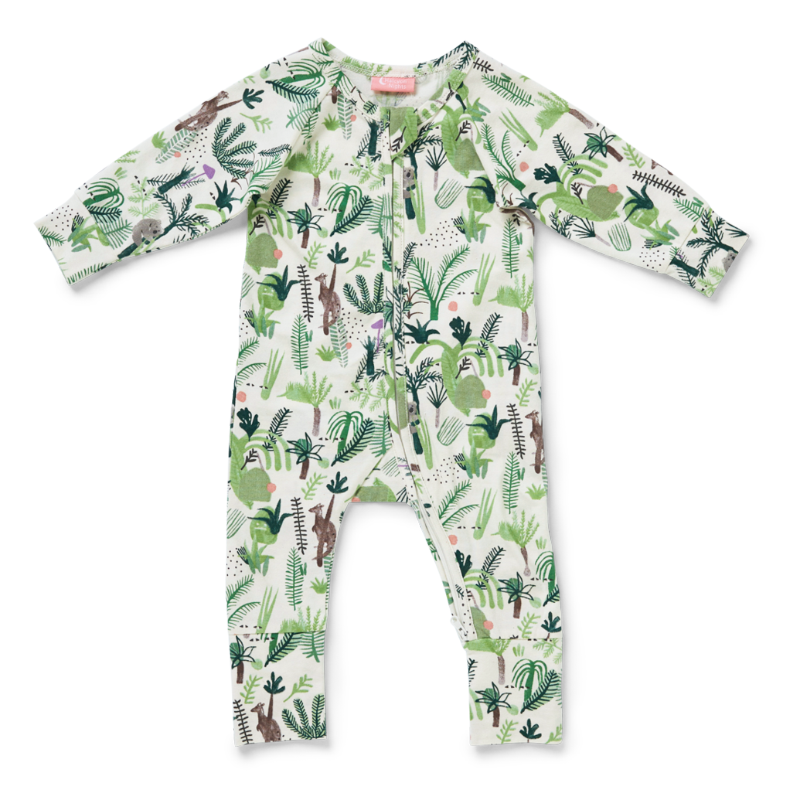 Halcyon Nights LS Zip Suit - Fern Gully