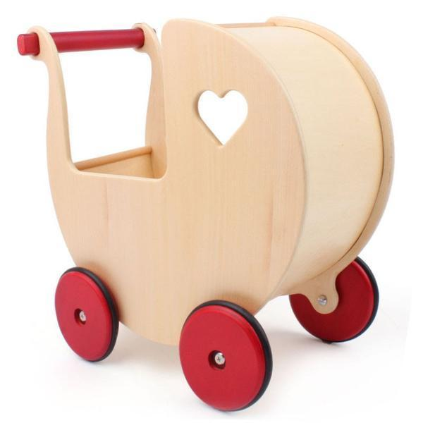 Moover Dolls Pram - Natural wood