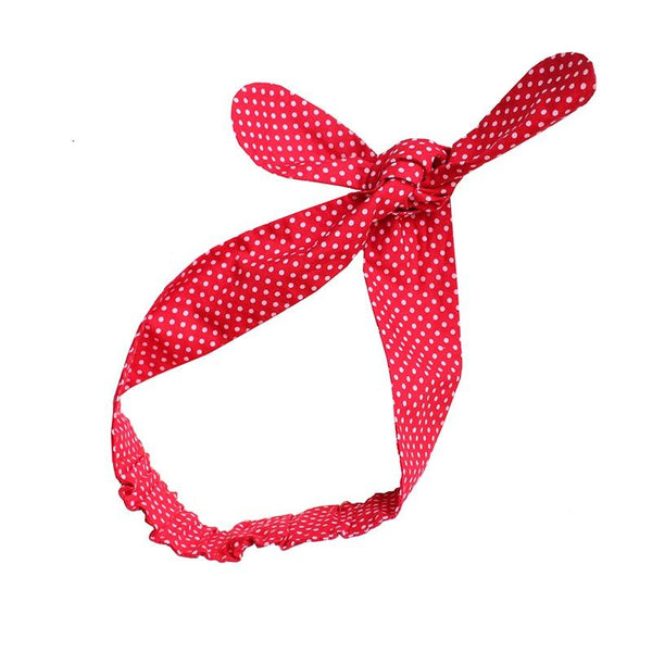 Shorties Handmade Headbands - Red Polka