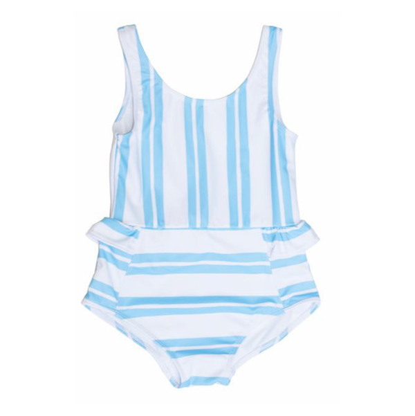Yellow Jungle Anemone Swimsuit - Stripes