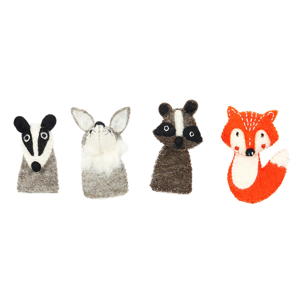 Woodland Finger Puppet - Raccoon