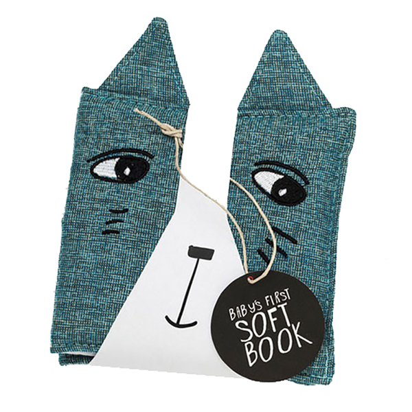 Wee Gallery Cloth Books - Cat/Friendly Faces In Wild