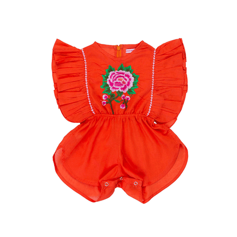 Coco & Ginger Delphie Sunsuit - Paprika Rose