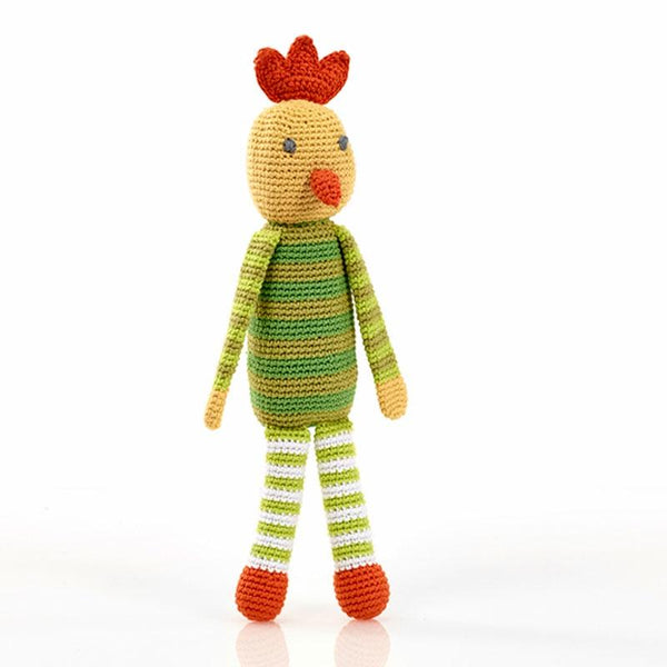 Pebble Crochet Rattle - Chicken