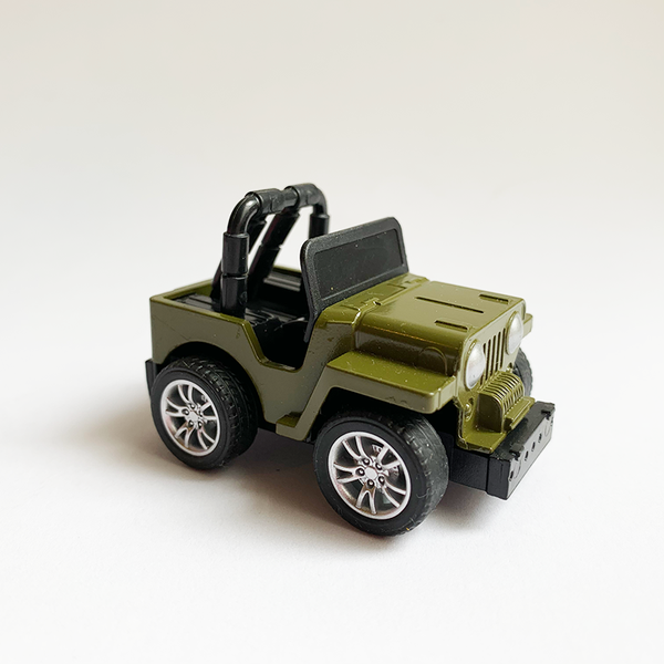 Die Cast Car - Green Jeep