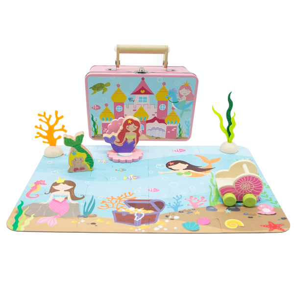 Mermaid Playset In Tin Case