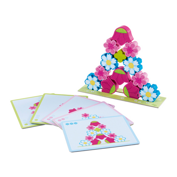 Haba Stacking Game Magic Flowers