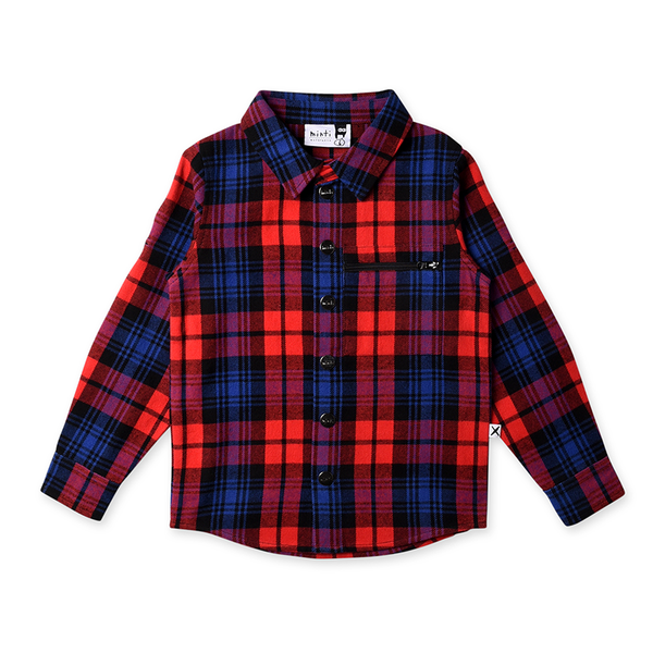 Minti Snappy Flannel Shirt - Red