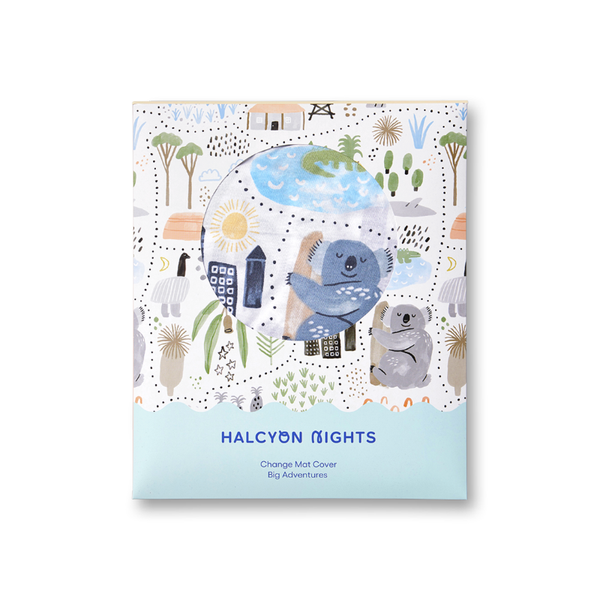 Halcyon Nights Change Mat Cover - Big Adventures