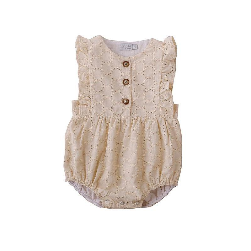 August Playsuit - Lemon Brodiere at shorties