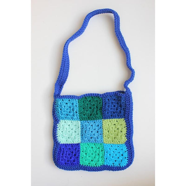 Patchwork Bag - Blue