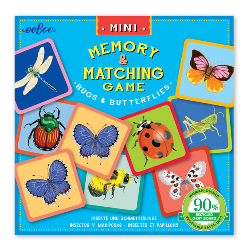 Eeboo Mini Matching Game - Bugs