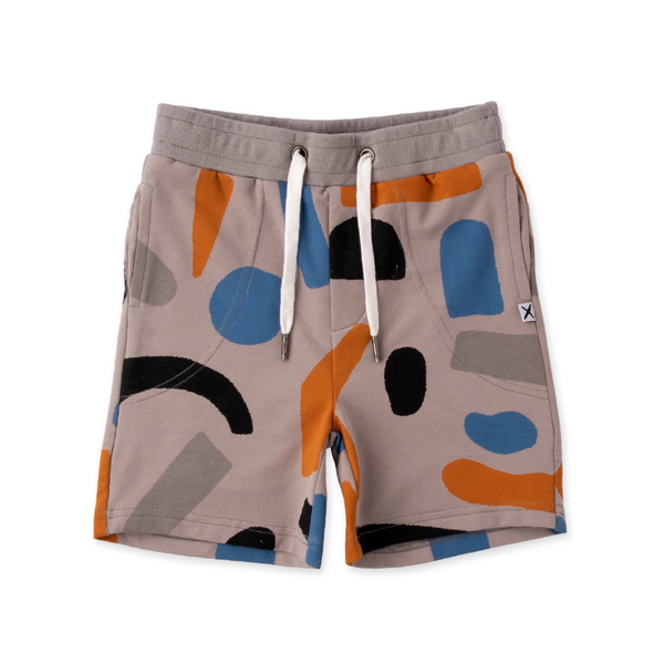 Minti Messy Shapes Short - Grey