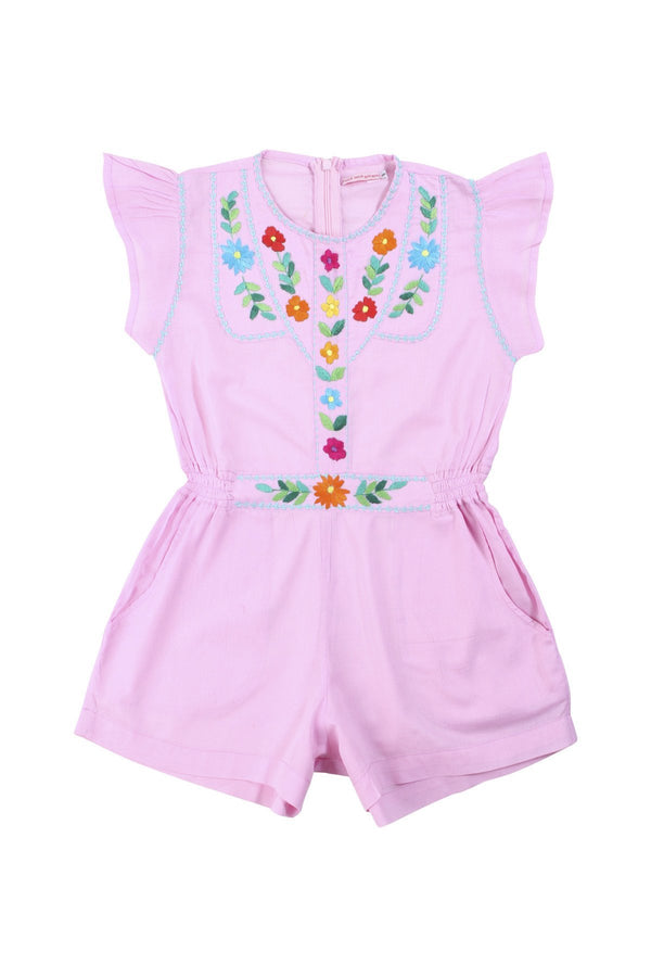 Isabel Playsuit - Rose with hand stitch