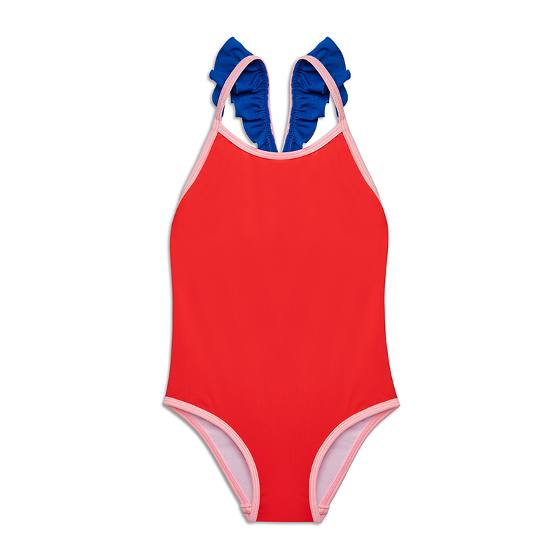 Yellow Jungle Sandy Swimsuit - Coral