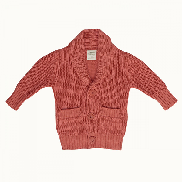 Nature Baby Willow Cardigan - Cranberry