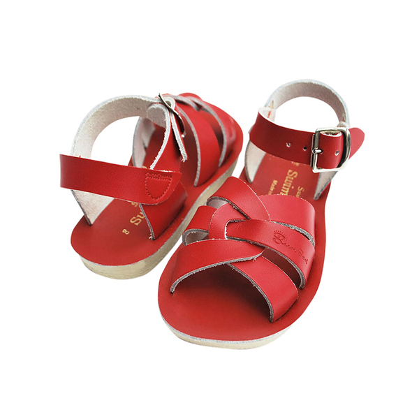 Saltwater Sun-San Swimmer Sandals - Red