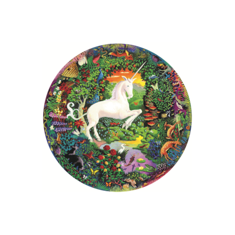 Eeboo 500Pc Round Puzzle - Unicorn