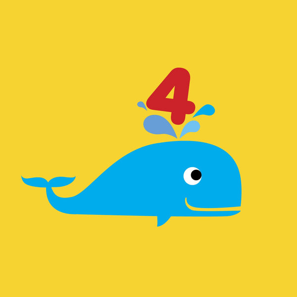 Scoops Card - Age 4 Whale