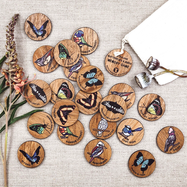 Buttonworks Memory Game - Birds & Butterflies