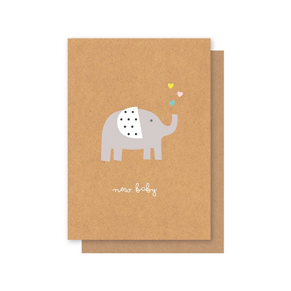 Elly Oak Card -New Baby Elephant