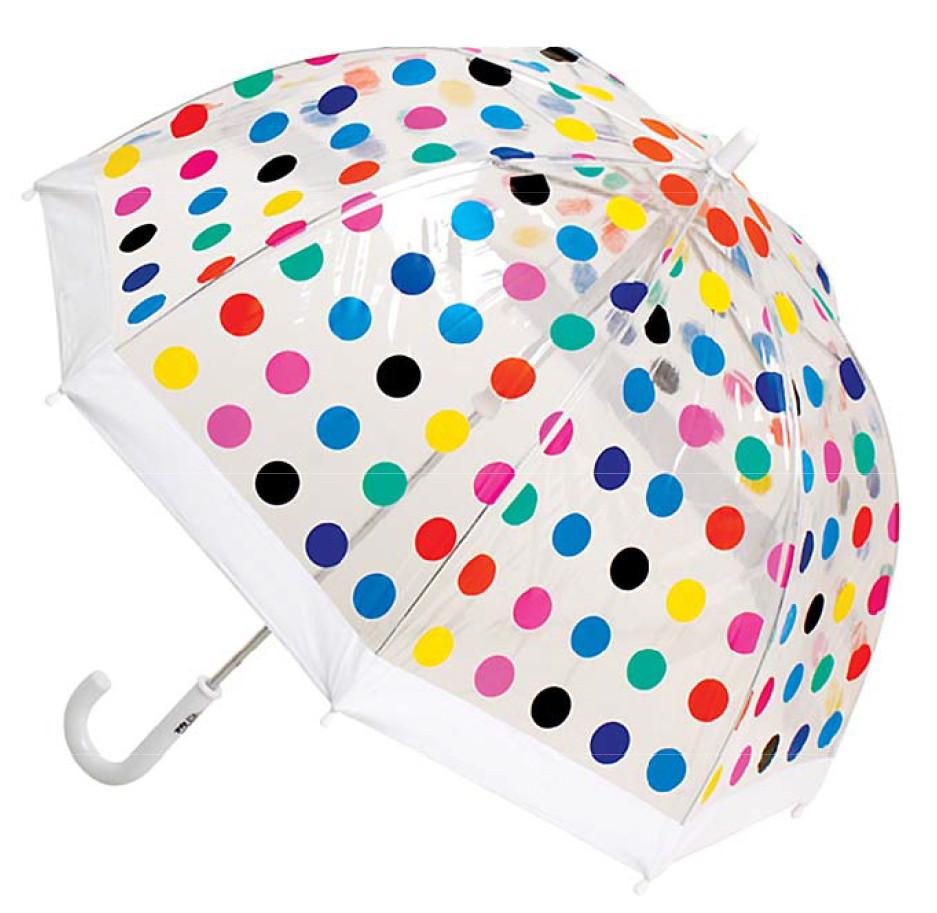 Clifton umbrella mutli spot rainbow polkadot kids umbrella