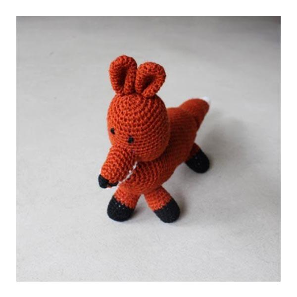 Hand-knitted Mr. Fox
