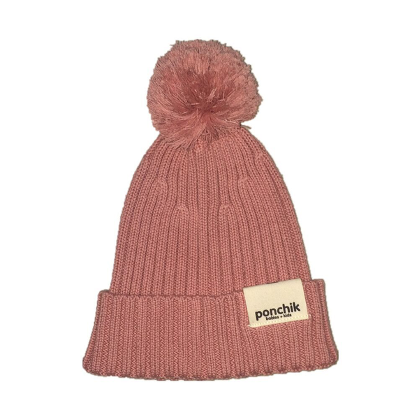 Ponchik Beanie - Pom Pom Beanie Rosewood. Kid store inner west Sydney, baby clothes and children's shop.