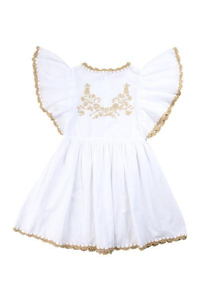 Coco and Ginger Joni Dress - White with Gold
