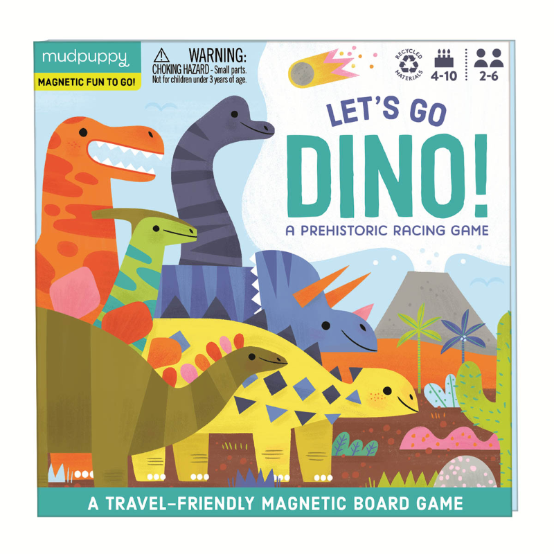 Mudpuppy Magnetic Board Game - Lets Go Dino